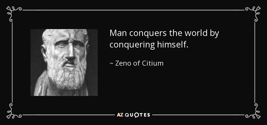 Image result for conquer yourself zeno of citium